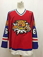 Authentic Game Worn Kyle Murnaghan Moncton Wildcats Hockey Jersey QMJHL Size 56