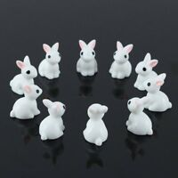 10pcs Mini Rabbit Animal Miniature Fairy Garden Decor Ornament Toys D7V2