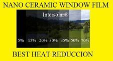 """Window Film Nano Ceramic Tint 20% 36""""x 20 feet  and 70% 36 x 6 Feet  Intersolar®"""