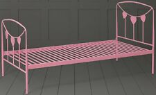 Tesco Kids Star Single Metal Bed Frame with Headboard & Footboard (Pink)
