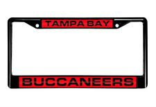 Tampa Bay Buccaneers Mirrored Laser Cut Black Chrome License Plate Frame