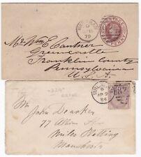 # 1879/84 WREXHAM WRAPPER & COVER =924= & RARE =824= ERROR DENBIGHSHIRE WALES
