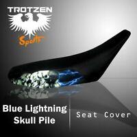 SUZUKI RM125/250/465 96-00 Blue Lightning Skull Pile Seat Cover #mgh3629sc3629