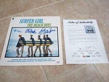 Beach Boys Brian Wilson Mike Love David Marks Signed Autograph LP PSA Certified