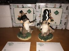 "Charming Tails ""Bride Of Franken Mouse And Franken Nib Halloween Set Of 2 Signed"