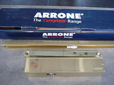 Door Closer -  Aronne Overhead  Track Arm  AR8209 in Polished Brass