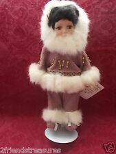 Alaskan Friends Eskimo Alaska Doll Porcelain 12 inches Collectible Doll