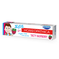 Natural Toothpaste ASTERA HOMEOPATHICA KIDS TASTY RASPBERRY(age 6+)SUGAR FREE
