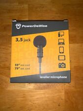PowerDeWise Grade Lavalier Lapel Microphone - NEW IN BOX