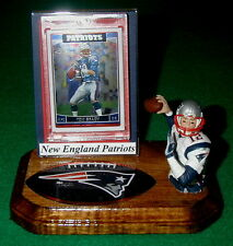 New England Patriots Tom Brady NFL Action Figure Sports Card Display Logo Gift