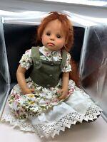 Gerlinde Feser Vinyl Puppe 78 cm. Top Zustand