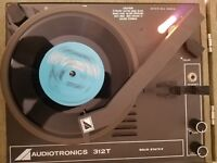 VINTAGE 1960's Audiotronics 312T classroom record player phonograph TESTED