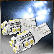 2x 12 SMD T10 194 12v Interior Instrument Panel Gauge Replacement Bulbs - White