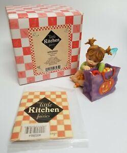 My Little Kitchen Fairies 2005 Loot Bag Fairie 4002664 Enesco Halloween w/ Box