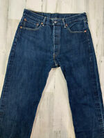 Levis 501xx Jeans Size 34x33 (measured) Button Fly Straight Fit