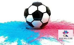 Gender Reveal FootBall Soccer Ball with Pink & Blue powder by What Will It Be ⚽