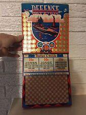"""Punch Board """"Defense Savings Stamps"""" Battleship Gambling Trade Stimulator WW2"""