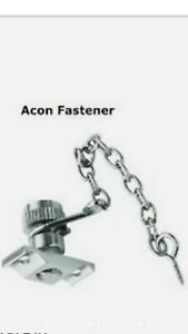 Acon Window Sash Fastener Stop With Chain X4 satin chrome lot