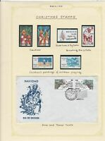 mexico christmas stamps page ref 17223