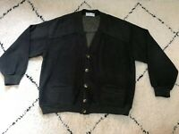 VINTAGE burberrys sweater jacket coat cardigan bomber green olive men's size 6/M