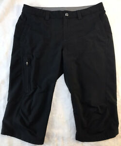 REI Cropped Pants Camping Hiking Lightweight Stretch Black 8 Athletic Quick Dry