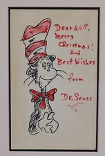 STUNNING FRAMED ORIGINAL DRAWING ~DR. SEUSS~ THE CAT IN THE HAT~W. LOA/COA