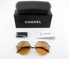 CHANEL Sonnenbrille 4190 T Q c395 4N 54[]18 135 Round Gold Orange Sun c2011+Case