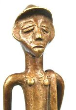 Art Africain - Ancienne Figurine en Bronze Senoufo - Facteur ou Livreur 20,5 Cms