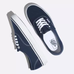 Vans Authentic Skate Shoes Blue Soles Mens Sneakers