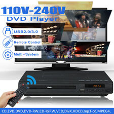110V-240V 15W LCD DVD Player Compact Multi Region Video HDMI CD USB 3.0 + Remote