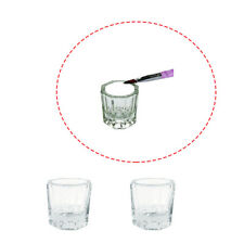 2 PCS Acrylic Powder, Acetone, Liquid Container Glass Dappen Dish