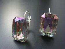 Versilberter Mode-Ohrschmuck mit Kristall und Hakenverschluss