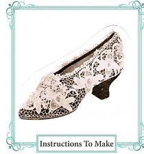 Vintage Visage Crochet pattern-how to make irish crochet lace wedding shoe cover