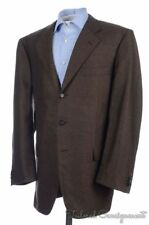 HARTWOOD by CARUSO Brown Solid Cashmere Mens Blazer Sport Coat Jacket - EU 56