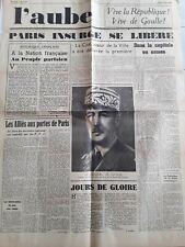 LE JOURNAL 1919/La paix est conclue/Traite de Versailles