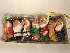 Vintage Walt Disney Productions Vinyl Seven Dwarfs Set Original Packaging