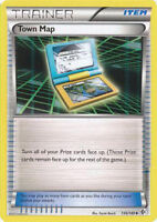 Town Map Uncommon Trainer Pokemon Card BW Boundaries Crossed 136/149