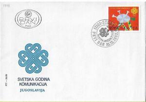 FDC 1983 Yugoslavia World Year of Communication Postal History Stamps