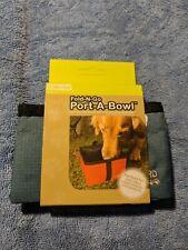 Fold-N-Go Port-A-Bowl Outward Hound Portable Dog Bowl