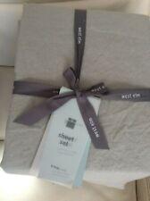West Elm Belgian Flax Linen King Sheet Set NIP! Platinum Gray
