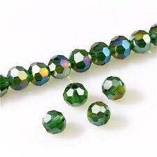 100Pc 4mm Round Crystal Glass Beads Grass green Spacer Bead For Bracelet Jewelry