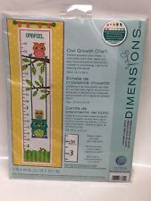 Dimensions Needlecrafts Counted Cross Stitch, Owl Growth Chart
