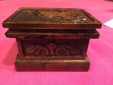 Antique Puzzle Jewelry Box With A Secret Lock