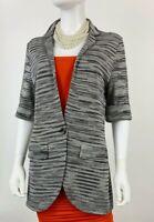 Missoni New 10 US 46 IT M Black White Stretch Knit Cotton Jacket Coat Runway