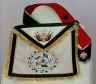 Masonic Scottish Rite 32 Degree Master of the Royal Secret regalia Apron + sash+