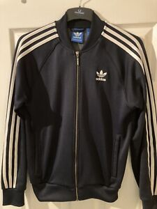 Adidas Navy Track Top Jacket Size Small Tracksuit
