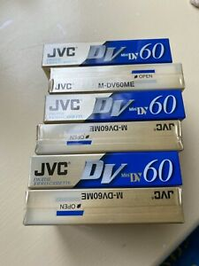 JVC DIGITAL VIDEO CASSETTE DV 60 90 MIN X6