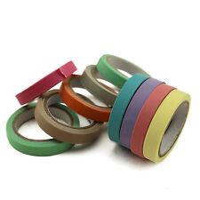 10x Decorative Washi Rainbow Pastel Thin Masking Adhesive Tape Scrapbooking DIY