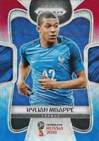 2018 Panini Prizm World Cup Russia '18 France Red Blue Wave Parallel (#74 - #86)