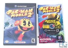 PAC Man mundo 2-Nintendo Gamecube Disco & Case USA NTSC